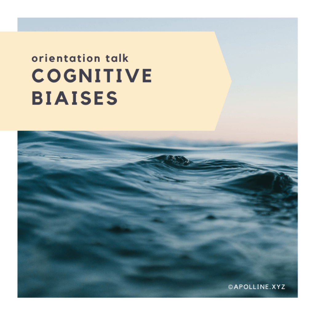 COVER ARTICLE « cognitive biaises, how to identify, understand and dodge them? » by apolline rigaut