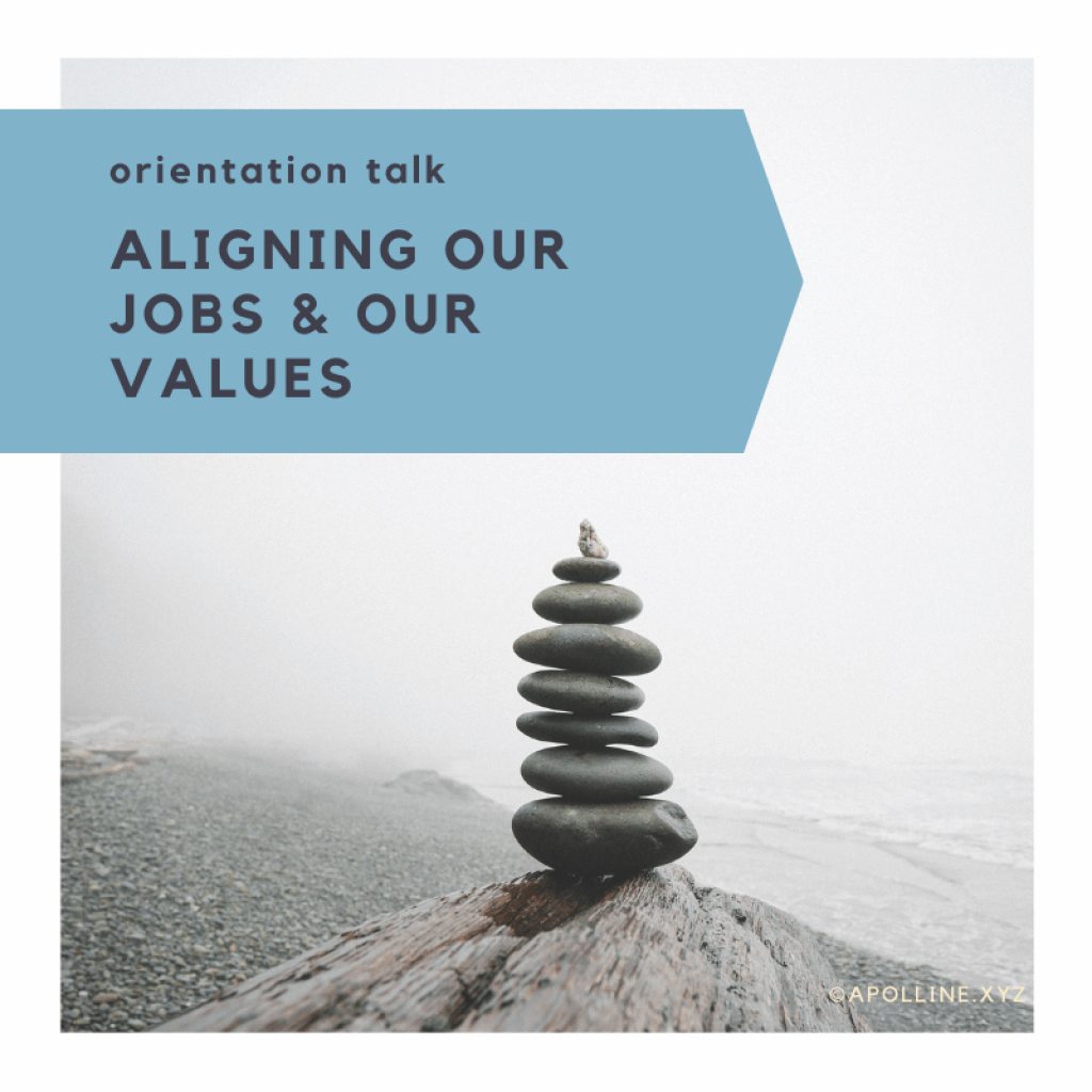 COVER ARTICLE - Cairn « should we be aligned with our work? What place has personal commitments in a professional environment? »